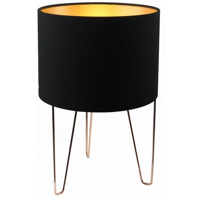 Como bordslampa - Svart / Guld / Koppar
