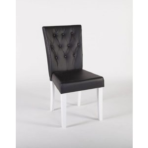 Halmstad stol - Svart PU