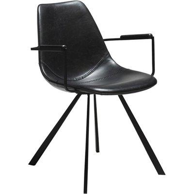 Pitch karmstol - Vintage svart