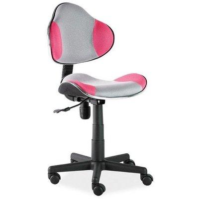 Skrivbordsstol Carla - Rosa/grå