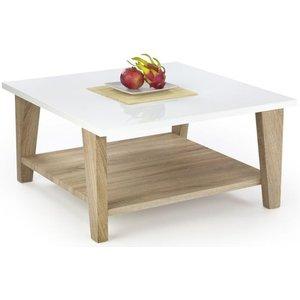 No 15:2 kvadratiskt soffbord - Ljus Ek/Vit högblank