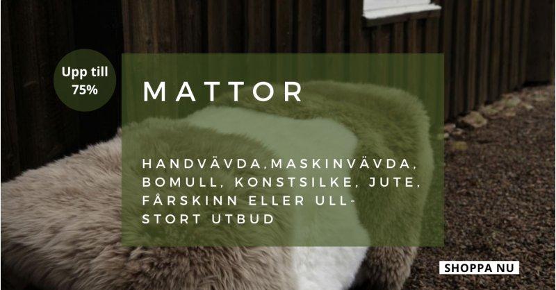 Stort utbud av mattor - Spara upp till 75%