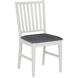 Vienna stol - Vit / Grått tyg