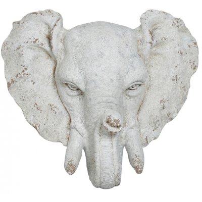Trädgårdskonst Staty elefant (vägghängd) - H60 cm