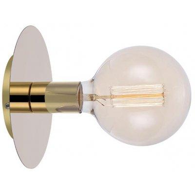 Disc Vägglampa - Mässing