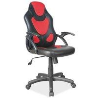 Emersyn skrivbordsstol - Svart/röd