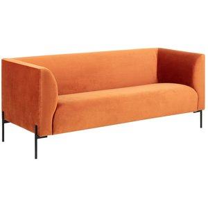 Anna 3-sits soffa - Orange velour