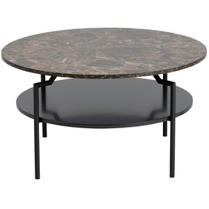 Ton soffbord - Brun marmor / Svart