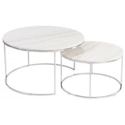 Lormont satsbord i marmor - Ljus marmor/krom