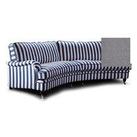 Howard Luxor XL svängd 5-sits soffa - Grå