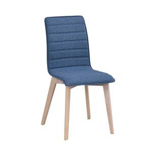 Hettie stol - Blå/whitewash-ek