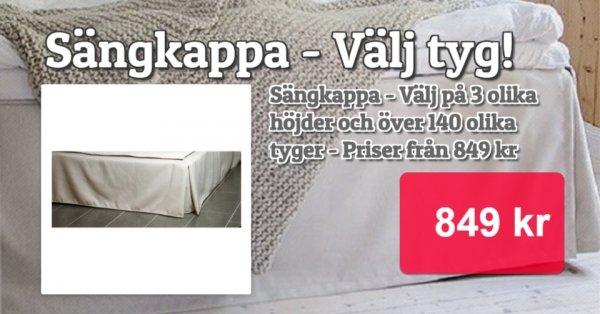 Sängkappor - Beställ efter dina mått och färgval!