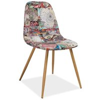 Guadalupe stol - Metall/kartmönster