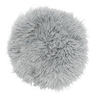 Frizzy rund stolsdyna - Ljusgrått fårskinn