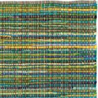 Handgjord matta - Home - Grön - Handvävd bomull