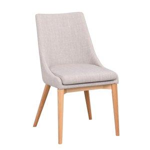 Bethan stol - Ljusgrå/ek
