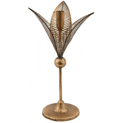 Ljushållare Flower big - Antikt guld