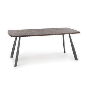 Phil matbord - Mörk valnöt/svart