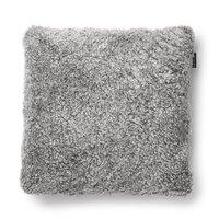 Curly kuddfodral fårskinn - Silvergrå