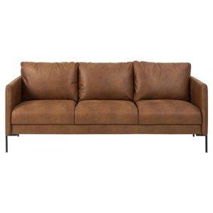 Kingsley 3-sits soffa - Cognac
