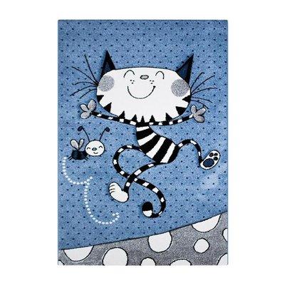 Barnmatta Holly - Kitty blå - 120x170 cm