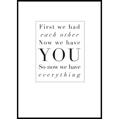 YOU - Poster 50x70 cm