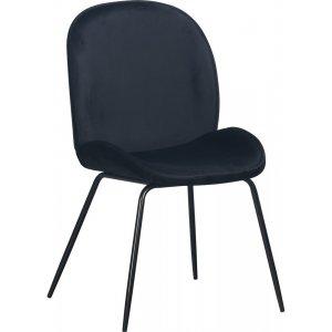Leo stol - Svart sammet/svart
