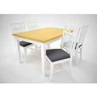 Ramnäs matgrupp - Bord inklusive 4 st Ramnäs stolar - Vit/ek