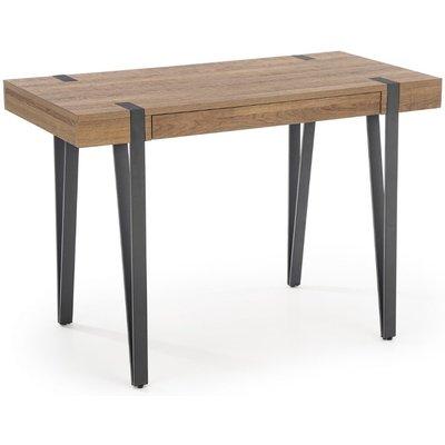 Paul Skrivbord med förvaring - Valnöt/svart