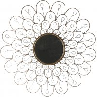 Sol spegel 91 cm - Antik mässing