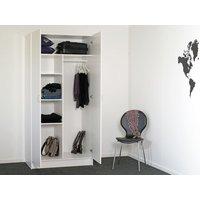 Lenard garderob - Vit