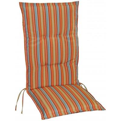 Vinge dyna till positionsstol och hammock- Orange/Röd/Grön/Brun (Randig)