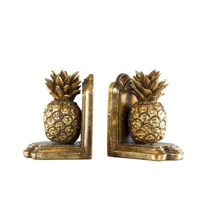 Bokstöd ananas - Guld
