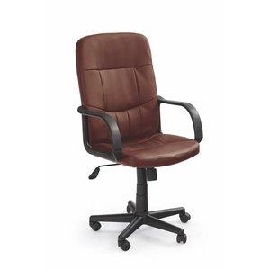 Ian skrivbordsstol - mörkbrun (Konstläder)