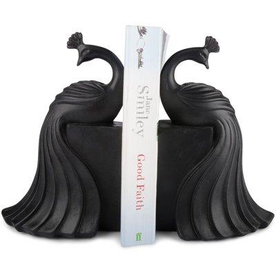 Bokstöd Påfåglar - Svart