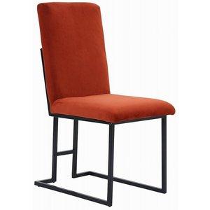 Simple stol - Roströd sammet