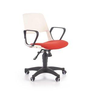 Thorvald kontorsstol - Vit/röd