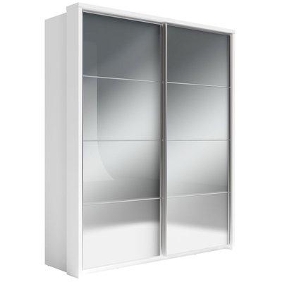 Mervyn garderob med speglar - Vit