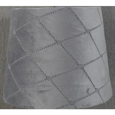 Velvet Diamond lampskärm 23 cm - Grå