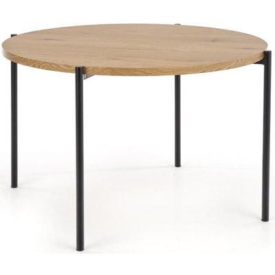 Tanzi matbord Ø120cm - Ek/svart