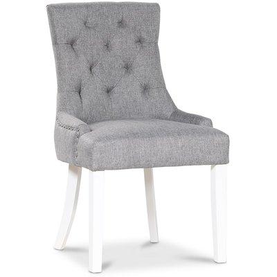 Tuva Eastport stol med nitar i krom - Grå