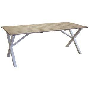 Scottsdale matbord 190 cm - Vit / Shabby Chic