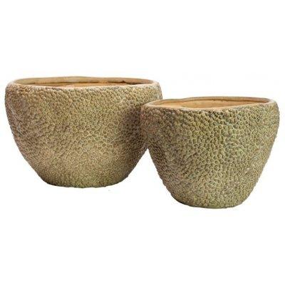 Kobe set om 2 st krukor låga - Keramik