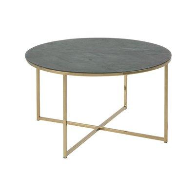 José runt soffbord - Grön/guld