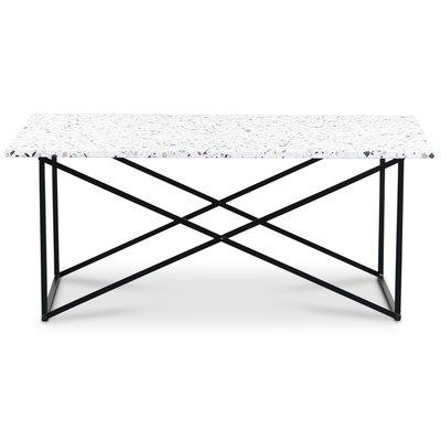 Terrazzo soffbord 110x60 cm - Cosmos Terrazzo & underrede Paladium svart