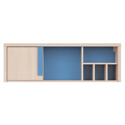 Lindby vägghylla - Ek/blå