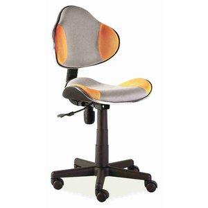 Skrivbordsstol Carla - Grå/oragne