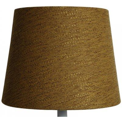 Rund lampskärm 22x28x22 cm - Guldbrun (grovt linne)
