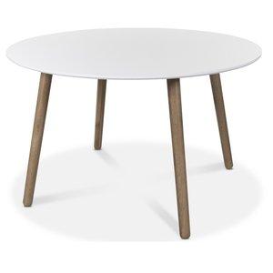 Rosvik runt matbord 120 cm - Ek/Vit
