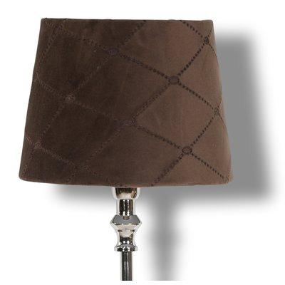 Velvet Diamond lampskärm 20 cm - Brun